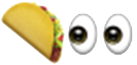 eyes on the taco