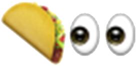eyes on the taco